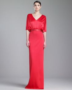 Sateen Milano Knit Gown, Grenadine by St. John Collection at Neiman Marcus.