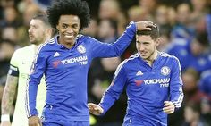 Chelsea 5-1 Manchester City: Blues cruise into FA Cup quarter-finals with Diego Costa, Willian, Gary Cahill and Eden Hazard on target as Manuel Pellegrini's youngsters fall short | Daily Mail Online