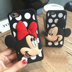 Official Mickey Mouse and Minnie Mouse Phone Case Cover for Apple Phone. *Limited* Disney Mickey Mouse Couple Case For iPhone. Protect your cell phone from scratches, bumps, and shocks in daily use.
