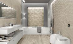 Modern, minimal bathroom setup showcasing our Majesty collection porcelain tile in Beige. Glass Tile Bathroom, Beige Bathroom, Bathroom Spa, Bathroom Ideas, Minimal Bathroom, Modern Bathroom, Bathroom Renovations Brisbane, Stone Look Tile, Custom Countertops
