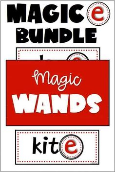 Magic e Wands and Worksheets are the perfect combination for your phonics plans. Use the CVCe wands for your literacy center and the Magic e worksheets for application and assessments. You students will love both of these activities! Made for first grade Phonics centers, morning work, early finishers, homework, Guided Reading Word Study. Daily Writing Prompts, Writing Resources, Reading Words, Guided Reading, Word Study, Word Work, Primary Classroom, Classroom Ideas, Phonics Centers
