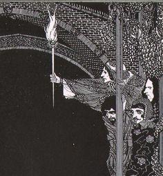 Assignation Edgar Allan Poe 1933 Harry Clarke Original Vintage Gothic Horror Illustration To Frame