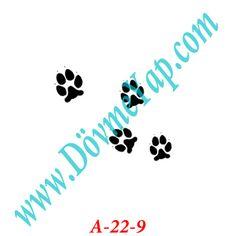Pati Geçici Dövme Şablon Örneği Model No: A-22-9