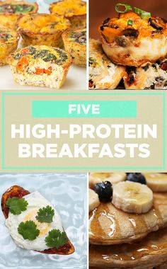 Try these high protein breakfasts to keep you full and energized for the day!