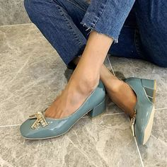 women summer pumps chunky mid heels plus size shiny patent leather candy bowties shoes woman female - These shoes are perfect for ladies who love fancy and classic, wearing these round toe chunky mid heels, you will look more elegant and fashion. #chunkyheels #sandalssummer #sandalsoutfit #sandalsheels #heels #heelsclassy #heelswithjeans #heelsprom #icuteshoes #blockheelsoutfit #blockheelsoutfitjeans #blockheelsoutfitjeansstreetfashion #heelsclassyelegant #heelswithjeansoutfit Block Heels Outfit, Sandals Outfit, Toe Shape, Women's Pumps, Chunky Heels, Cute Shoes, Kitten Heels, Bowties, Patent Leather