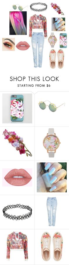 """Color Explosion"" by enma-9398 ❤ liked on Polyvore featuring Full Tilt, Accessorize, Olivia Burton, Topshop and Dune"