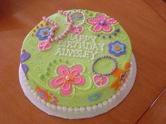Flower and Polka Dot Birthday Cake Birthday Cakes Birthday cakes
