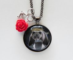 Grizzly Bear Charm Pendant Necklace by HoovesHornsWingsPaws
