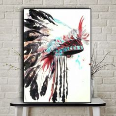 Watercolor Native Indian Abstract Oil Painting on Canvas Posters and Prints Cua. Watercolor Native Indian Abstract Oil Painting on Canvas Posters and Prints Cuadros Wall Art Picture for living room Artist Canvas, Canvas Art, Canvas Prints, Art Prints, Abstract Canvas, Oil Painting Abstract, Oil Paintings, Nordic Art, Canvas Poster