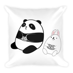 Pompo and this pillow are a fluffy combination! Pompo Gamer (White) - Square Throw Pillow