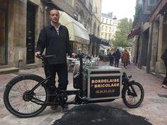Bordelaise de bricolage - Christophe Lamoulie , l'artisan bricoleur à vélo à Bordeaux