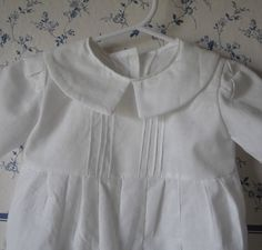 Baby Boy Baptism RomperCustom Orders by annabannacrafts on Etsy