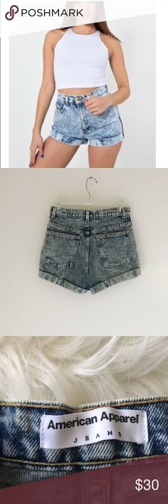 American Apparel High waisted shorts American Apparel High waisted shorts Size 27  Acid washed, in great condition   🔹Materials in photos 🔹Measurements in photos American Apparel Shorts Jean Shorts
