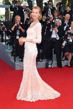 Eva Herzigova in Dolce & Gabbana Cannes 2012