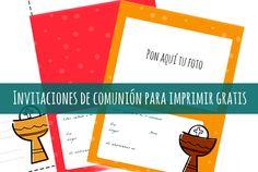 Invitaciones de comunión con foto - Manualidades Communion, Html, Printable, Invitations Kids, Communion Invitations, Free Printable, Hipster Stuff, Forget, Community