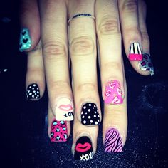 Betsey nails I luv them! Love Nails, How To Do Nails, Pretty Nails, Fun Nails, Beautiful Nail Designs, Cute Nail Designs, Tips Belleza, Fabulous Nails, Blush