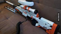 Tippmann A-5 custom sniper Asiimov