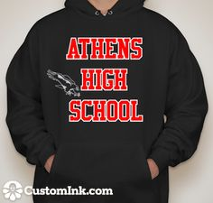 AHS Hoodie with last name & grad. year & hawk I WANT this!! & i designed it!  -Designed Online at CustomInk.com