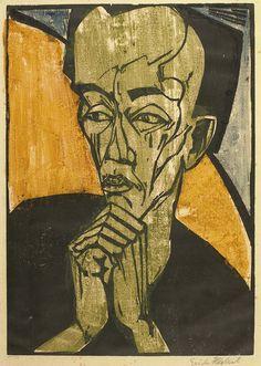 Day Sale Lot 167: Männerbildnis (Portrait of a Man) de Erich Heckel (1919)