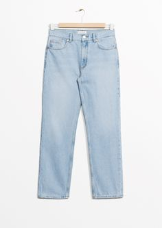 & Other Stories image 2 of Straight Fit Light Wash Jeans  in Light Blue