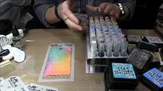 Tim Holtz shows us how to use Layering Stencils with Distress Products
