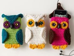 Crochet owl phone covers, free pattern. Adorable. Thanks so for the share xox