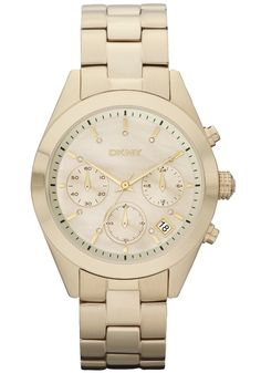 DKNY Watch, Women's Chronograph Stainless Steel Bracelet - Women's Watches - Jewelry & Watches - Macy's (I do have this one! Cool Watches, Watches For Men, Women's Watches, Wrist Watches, Street Smart, Rough Diamond, Beautiful Watches, Online Clothing Stores, Donna Karan