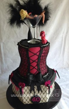 Burlesque 40th birthday cake.