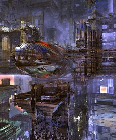 Primarily science fiction art of all types, but will also cross over into fantasy, horror and surreal themes. All art is credited to their creators. Futuristic City, Futuristic Vehicles, Computer Art, Cyberpunk Art, Matte Painting, Science Fiction Art, Future City, Sci Fi Fantasy, Sci Fi Art