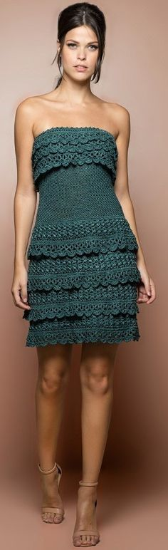 Vanessa Montoro crochet dress @roressclothes closet ideas women fashion outfit clothing style