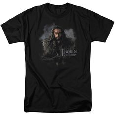Submerge yourself in the world of Hobbit with this Thorin Oakenshield Adult T-Shirt. Now you can live out your fantasy and wear this officially licensed, black t-shirt made of 100% pre-shrunk cotton.