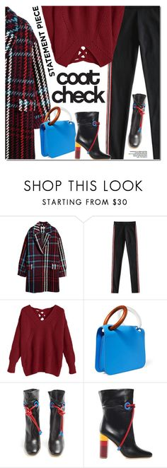 """""""Go Bold: Statement Coats"""" by ansev ❤ liked on Polyvore featuring H&M, Roksanda, Malone Souliers and statementcoats"""