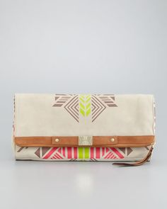 Tribal-Print Banker\s Clutch Bag by Cynthia Vincent at Neiman Marcus.