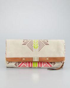 12th Street by Cynthia Vincent  Tribal-Print Banker's Clutch Bag