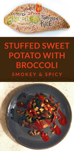 Stuffed Sweet Potato With Spicy Broccoli Recipe