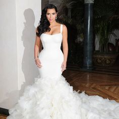 Junoesque Trumpet/Mermaid Straps Floor-length Cathedral Ruched Wedding Dresses