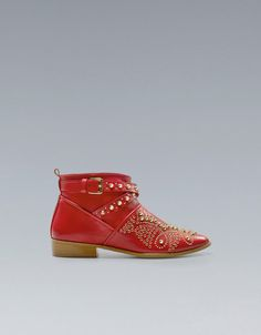 *sigh, dream* ANKLE BOOT WITH STUDDED TOE - Ankle boots -ZARA United States
