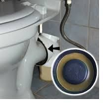 Leaking Toilet Waste Pipe