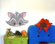 Cute Buntes Wandtattoo Tiergesicht Graue Katze Tiergesicht Graue Katze Wandtattoo in einer Breite ab cm