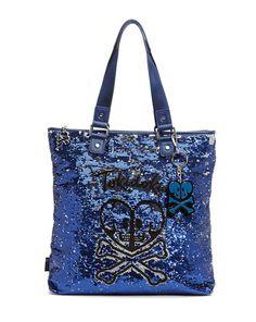 TOKIDOKI Salinas Skull and Heart Shopping Bag