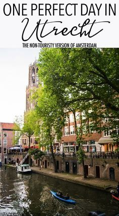 Your one day guide to visiting Utrecht, the most enchanting city in the Netherlands Planning a day trip from Amsterdam? Your complete guide to Utrecht in one day with things to do in Utrecht and where to eat in Utrecht. Backpacking Europe, Europe Travel Tips, Travel Advice, Travel Guides, Travel Destinations, Travelling Europe, Travel Hacks, Holiday Destinations, Italy Travel