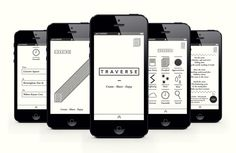 t r a v e r s e | b&w | app onboarding | ui | flat illustration | will cundall