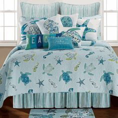 Imperial Coast Quilt l King, Queen or Twin l Sea Turtles l www.CarolinaDesigns.com