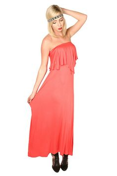 Get Lucky Ruffle Maxi Dress #boutique #shopping #dress #maxi
