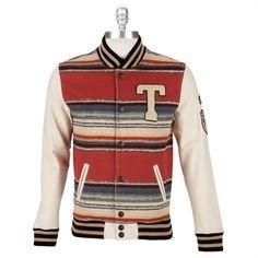 True Religion Men's Contemporary Striped Varsity Jacket #VonMaur #TrueReligion #Sienna