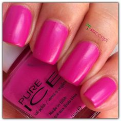 Two coats and no top coat of Punch It Up by Pure Ice. #PureIce #nails #nailpolish #swatches .     Instagram: accnpl