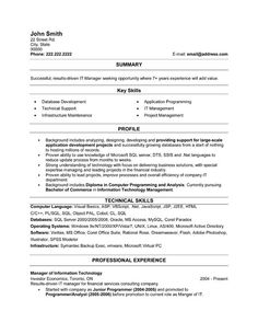 8 Best It Director Resume Templates Samples Images