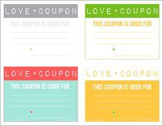 Imprimibles: Vales / Cupones de amor para San Valent�n (Recopilaci�n)