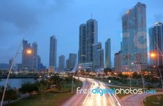 Panama City At Evening Time