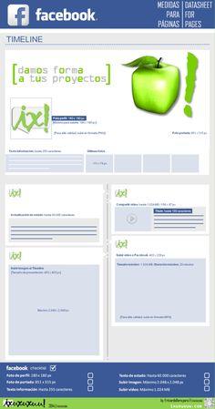 Medidas y limitaciones en FaceBook #infografia #infographic #socialmedia